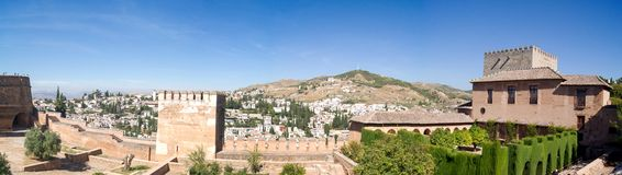 View of Granada from the Alhambra Stock Photo