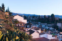 View  of  Granada with Alhambra Stock Photos