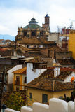 View of  Granada with Cathedral Royalty Free Stock Photo