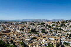 View of Granada, October 2016, Andalucia, Spain. View of the ancient and modern buildings of Granada from the Alhambra, October 2016, Andalusia, Spain Stock Photos