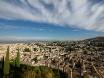 View of Granada old town roofs Stock Photo
