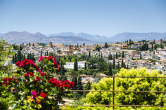 View on Granada old town, Spain Royalty Free Stock Image