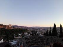 View Granada. Palace islámico Andalucía, Spain Stock Images