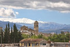 View of Granada from railway station, Spain Royalty Free Stock Image