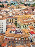 Granada from above with colorful houses royalty free stock image