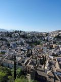 View Granada. Spain, Andalucía, sun Royalty Free Stock Image