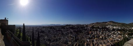 View Granada. Spain, Andalucía, tower Royalty Free Stock Photos