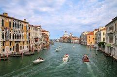 View of Grand Canal and Basilica di Santa Maria della Salute in Stock Image