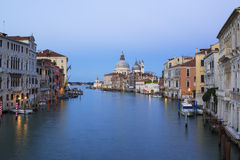 View of the Grand Canal and Basilica Santa Maria della Salute Royalty Free Stock Photos