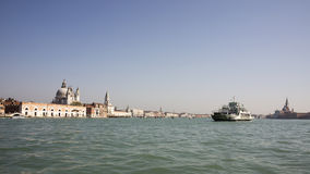 View of the Grand Canal with boats. Venice. Italy Royalty Free Stock Image