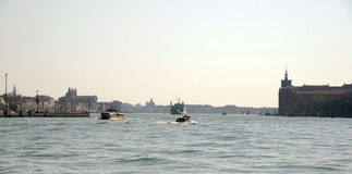 View of the Grand Canal with boats. Venice. Italy Stock Images