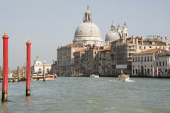 View of the Grand Canal with boats. Venice Stock Photography