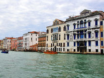 View of the Grand Canal in city centre of Venice Royalty Free Stock Image