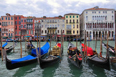 View of the Grand Canal in city centre of Venice Royalty Free Stock Images