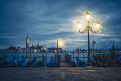 View of Grand Canal on a cloudy day Royalty Free Stock Photography
