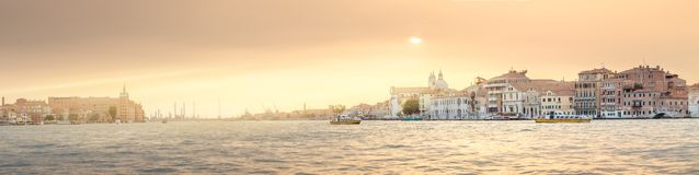 View of Grand canal and laguna in Venice Stock Images
