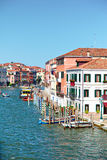View on Grand Canal from Ponte degli Scalzi in Venice, Italy Stock Image