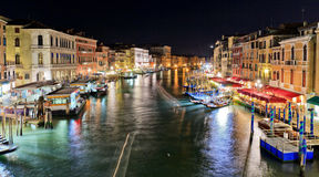 View of the Grand Canal from the Rialto Bridge Stock Photos