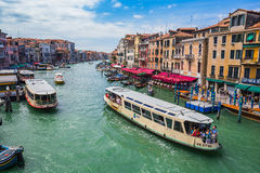 View of the Grand Canal from the Rialto Bridge Royalty Free Stock Image