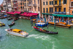 View of the Grand Canal from the Rialto Bridge Royalty Free Stock Photography