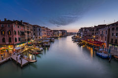 View on Grand Canal from Rialto Bridge Royalty Free Stock Image