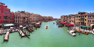 View of the Grand Canal from the Rialto Bridge. Stock Photography