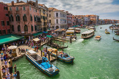 View of the Grand Canal from the Rialto Bridge Royalty Free Stock Photos