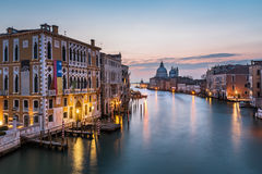 View on Grand Canal and Santa Maria della Salute Church Royalty Free Stock Image