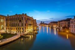 View on Grand Canal and Santa Maria della Salute Church Royalty Free Stock Photos