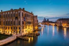 View on Grand Canal and Santa Maria della Salute Church Stock Photography