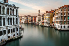 View on Grand Canal and Santi Apostoli Church Stock Image