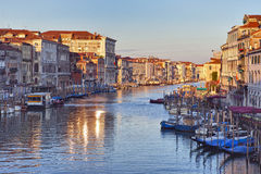 View on Grand Canal at sunrise Stock Photo