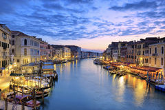 View of Grand Canal at sunset Royalty Free Stock Photography