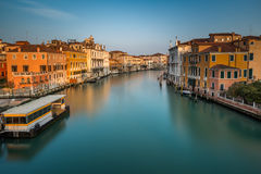 View on Grand Canal and Vaparetto Station Royalty Free Stock Images