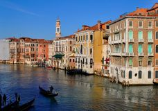 Venice. View on Grand Canal in Venice Royalty Free Stock Images