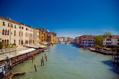 View of the Grand Canal in Venice stock photography