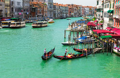 View of Grand Canal of Venice from Bridge Rialto, Venice Royalty Free Stock Photography