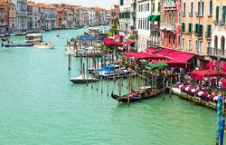 View of Grand Canal of Venice from Bridge Rialto, Venice Stock Photography