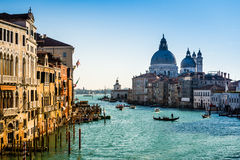 View of Grand Canal in Venice, Italy, from the Academia Bridge Royalty Free Stock Images