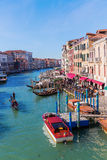 View of the Grand Canal in Venice, Italy Royalty Free Stock Photo