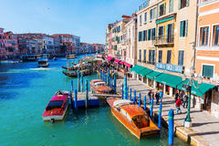 View of the Grand Canal in Venice, Italy Stock Images
