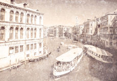 View of Grand Canal. Venice. Italy. Royalty Free Stock Photo