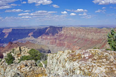 A View of the Grand Canyon in Afternoon Shadows Royalty Free Stock Images