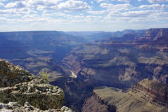A View of the Grand Canyon in Afternoon Shadows Stock Image