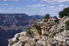 A View of the Grand Canyon in Afternoon Shadows Royalty Free Stock Photo