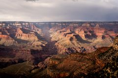 South Rim of the Grand Canyon near Bright Angel Lodge royalty free stock photo