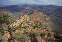 View of Grand Canyon from a hiking trail Stock Photography