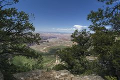 View of the Grand Canyon from Locust Point. On the edge of the Kaibab Plateau Stock Image