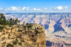 View of Grand Canyon from rim trail Royalty Free Stock Image