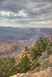 View of Grand Canyon from the south rim. A view over the Grand Canyon royalty free stock photos